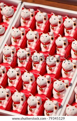 Lucky cats dolls - stock photo