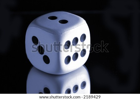 Lucky dice - stock photo