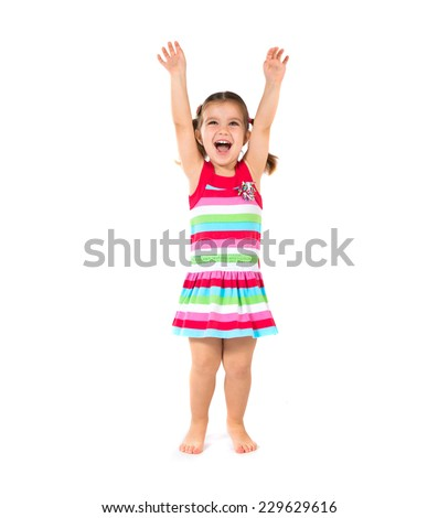 Lucky Kid over isolated white background - stock photo