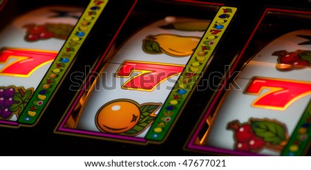 Lucky seven jackpot - stock photo