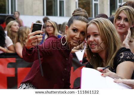 LUDWIGSBURG - AUGUST 29: Musician Mandy Capristo, many national and international superstars from the music scene in the Forum Theatre celebrated in Ludwigsburg, Germany. August 29, 2012. - stock photo