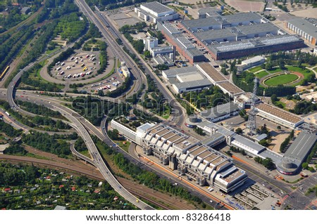 Luftbild, Berlin, Kongresszentrum, ICC - stock photo
