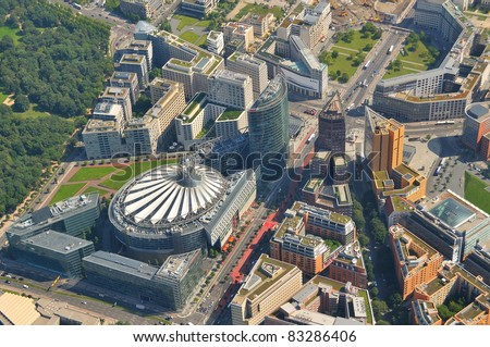 Luftbild Potsdamer Platz, Berlin - stock photo