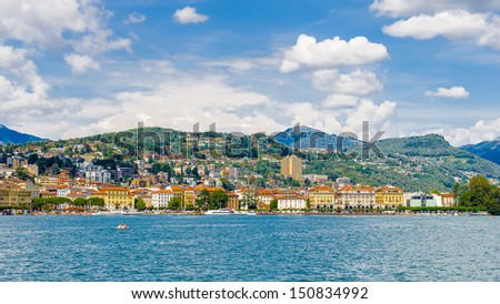 Lugano, Switzerland, from the lake of Lugano