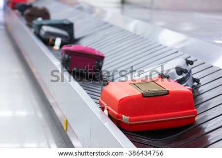 Luggage on the track - stock photo