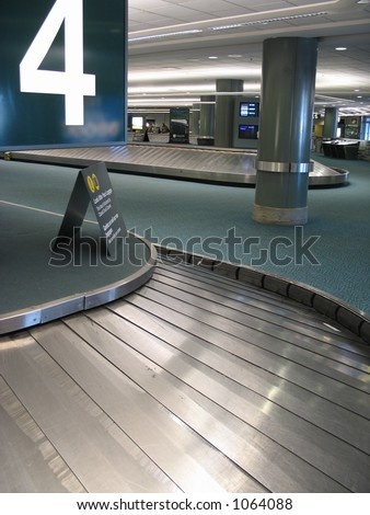 luggage ramp - stock photo
