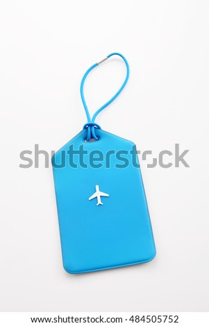 luggage tag on the white background