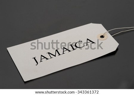 Luggage tag with word