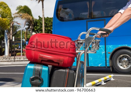Luggage transport - stock photo