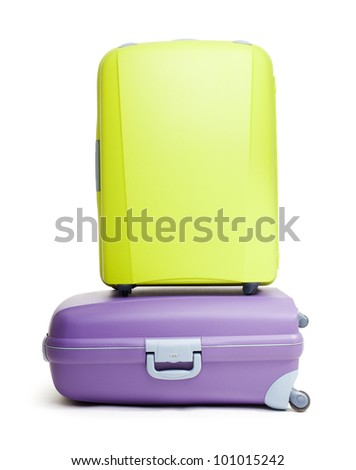 Luggage - two bags on the white background