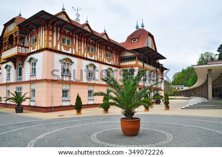Luhacovce spa resort, style Jurkovic house - stock photo