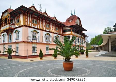 Luhacovce spa resort, style Jurkovic house - stock photo