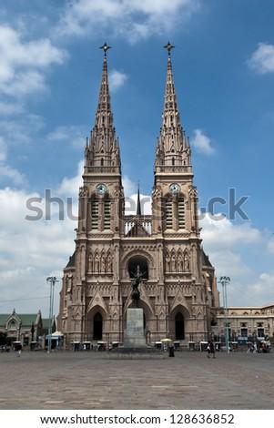 Lujan Basilica, near Buenos Aires, Argentina - stock photo