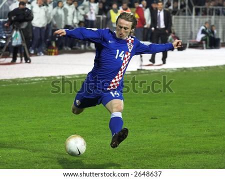 Luka Modric soccer - football Croatia player - stock photo
