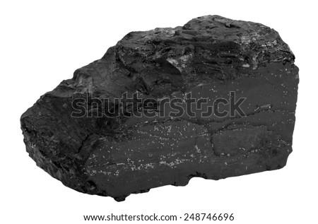 Lump of coal - stock photo