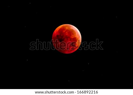 Lunar Eclipse. - stock photo