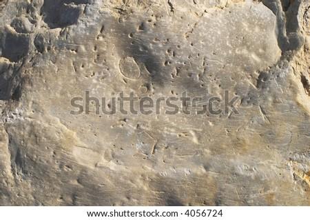 Lunar landscape, structure - stock photo