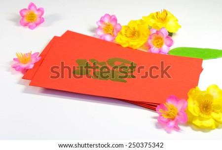 lunar new year money in envelopes gift - stock photo