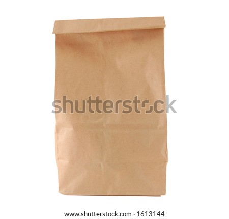 lunch bag - stock photo