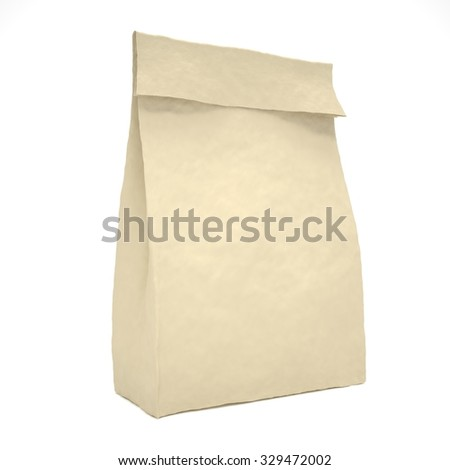 Lunch bag on white