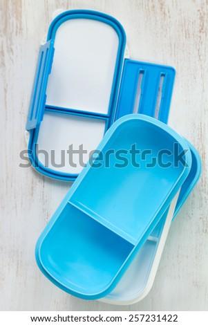 lunch box - stock photo