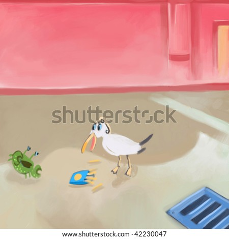 lunch meeting (search the word nikos for more) - stock photo