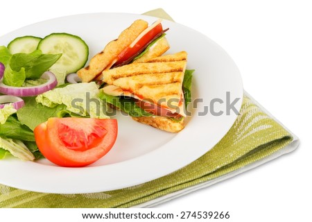 Lunch, Panini, Ready-To-Eat. - stock photo