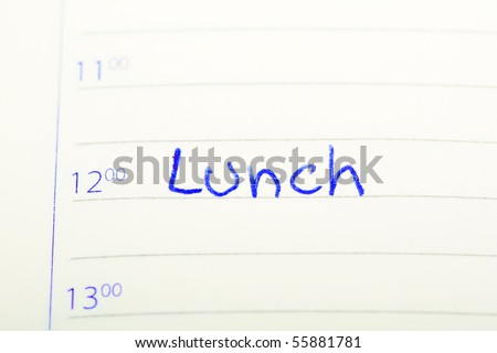 Lunch sign on paper