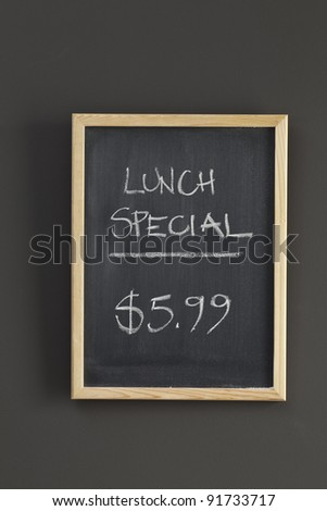Lunch Special sketched on chalkboard - stock photo