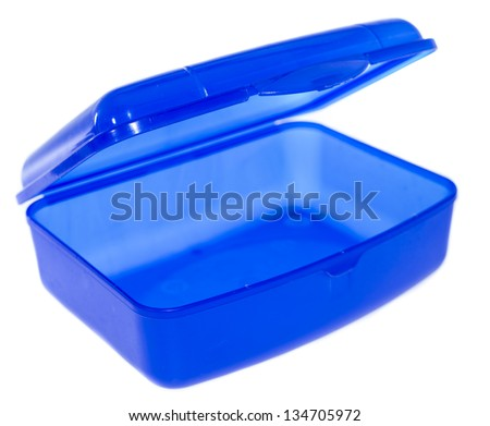 Lunchbox isolated on white background - stock photo