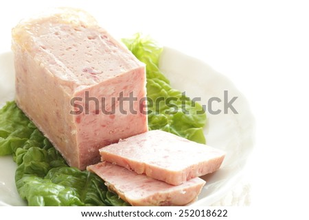 Luncheon meat - stock photo