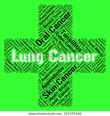 Lung Cancer Representing Ill Health And Affliction