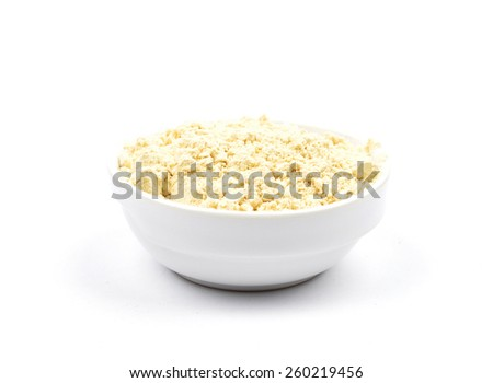 Lupin flour in bowl - stock photo