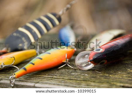 Lures for pike fishing - stock photo