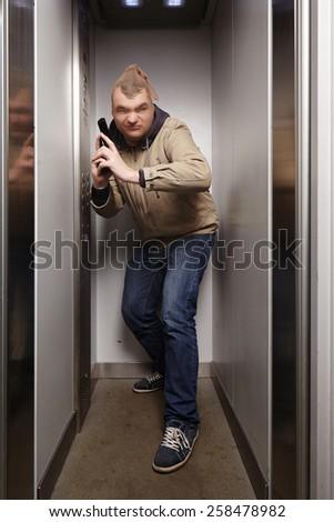 Lurking criminal - stock photo