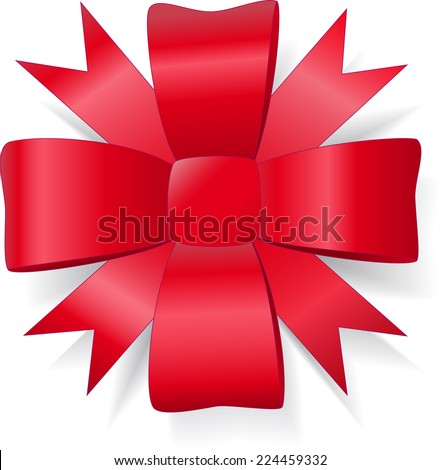 lush red bow - stock photo