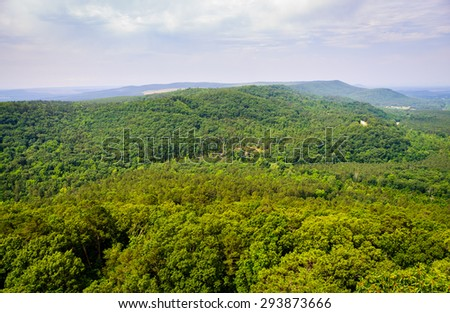 Lush View of Petit Jean State Park - stock photo
