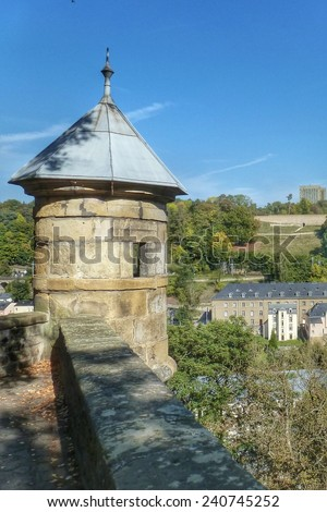 Luxembourg, Europe - fortress tower - stock photo