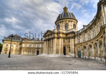 Luxembourg Palace, Senate Building in the Luxembourg Garden of Paris, France - stock photo