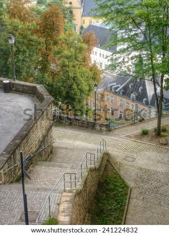 Luxemburg, Europe - the corniche - stock photo