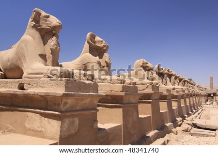 Luxor, Ancient temple in Egypt - stock photo