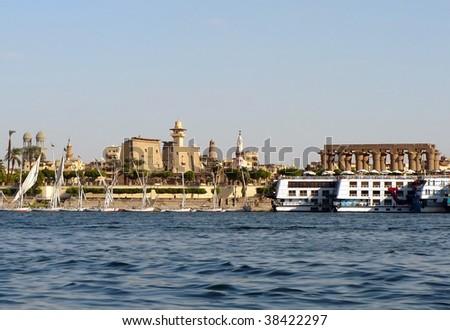 Luxor, Nile, Egypt - stock photo