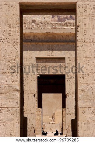 Luxor temple entrance - stock photo