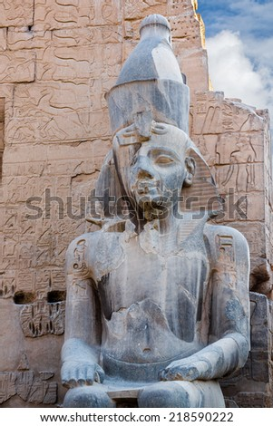 Luxor temple, Thebes, Africa, Egypt, UNESCO World Heritage - stock photo