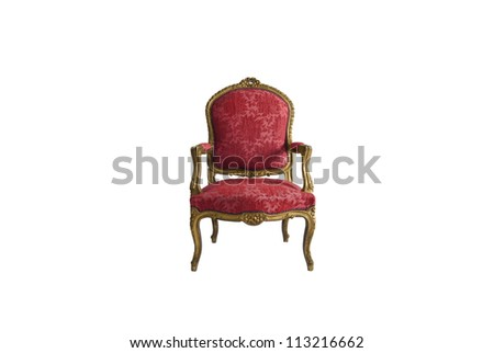 Luxurious armchair in white background - stock photo