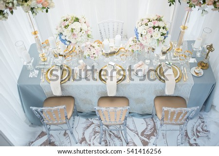 luxurious banquet table setting