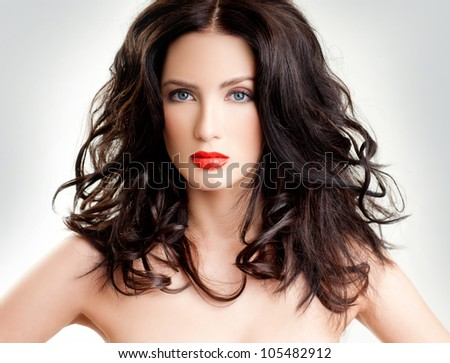 luxurious brunette. beautiful hair.