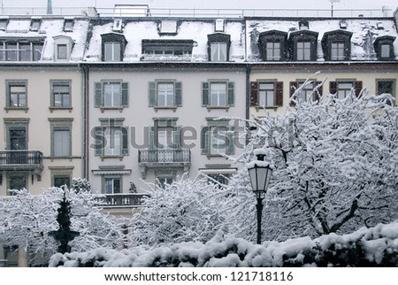 Luxurious dwelling in Zurich, Switzerland - stock photo