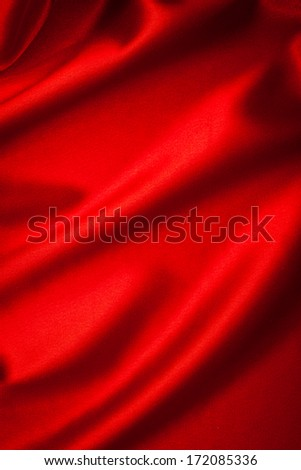 luxurious red satin background closse up - stock photo