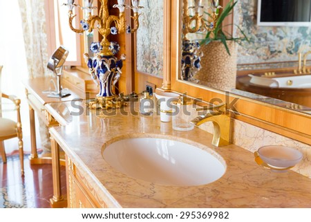 Luxurious sink - stock photo